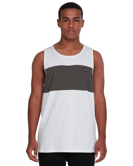 WHITE MENS CLOTHING BILLABONG SINGLETS - BB-9503503-WHT