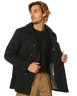 DIRTY BLACK MENS CLOTHING BANKS JACKETS - WJT0066DBL