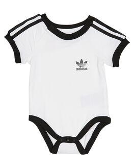 WHITE BLACK KIDS BABY ADIDAS CLOTHING - DV2818WHTBK