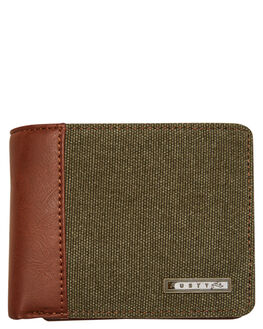 DARK OLIVE MENS ACCESSORIES RUSTY WALLETS - WAM0534DAO
