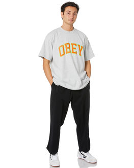 HEATHER GREY MENS CLOTHING OBEY TEES - 166912179HEA
