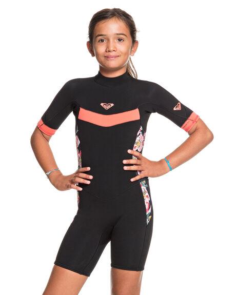 BLACK/BRIGHT CORAL BOARDSPORTS SURF ROXY GIRLS - ERGW503010-XKKM