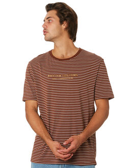 TOBACCO MENS CLOTHING RHYTHM TEES - JUL19M-CT06-TOB
