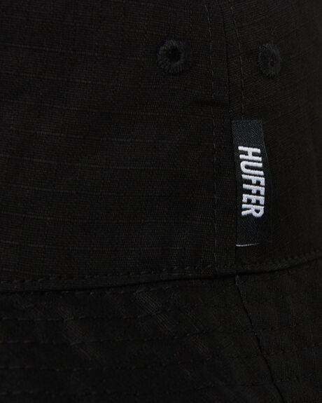 BLACK MENS ACCESSORIES HUFFER HEADWEAR - AHA84S4222BLK