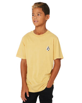 DULL GOLD KIDS BOYS VOLCOM TOPS - C4331970DUL