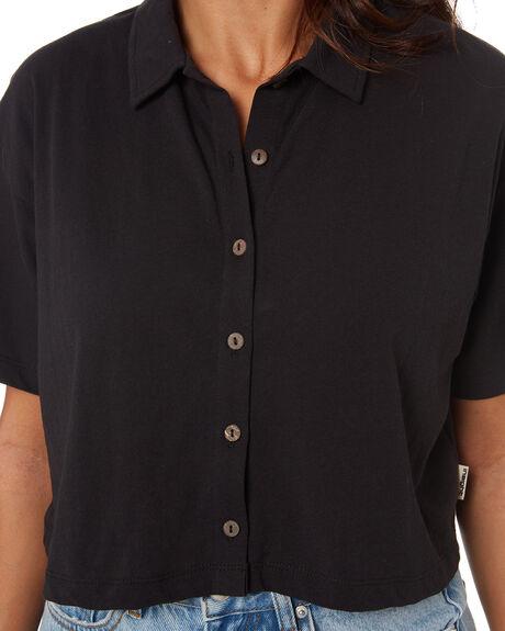 BLACK WOMENS CLOTHING INSIGHT FASHION TOPS - 1000088608BLK