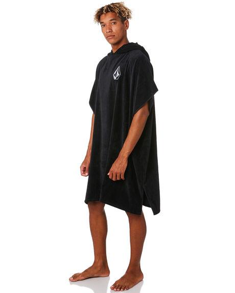 BLACK MENS ACCESSORIES VOLCOM TOWELS - D6701909BLK