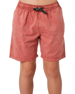 PEACH CORAL KIDS BOYS SWELL BOARDSHORTS - S3184234PCHCL
