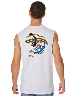 WHITE OUTLET MENS SWELL SINGLETS - S5182276WHITE