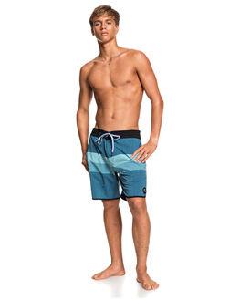 MAJOLICA BLUE MENS CLOTHING QUIKSILVER BOARDSHORTS - EQYBS04349-BSM0