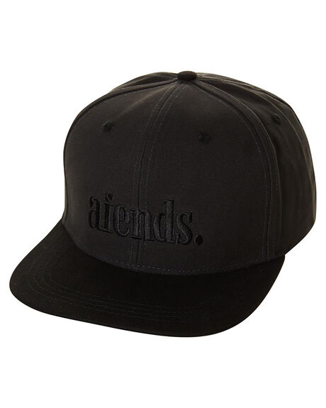 CHARCOAL BLACK MENS ACCESSORIES AFENDS HEADWEAR - 13-02-044CHAR