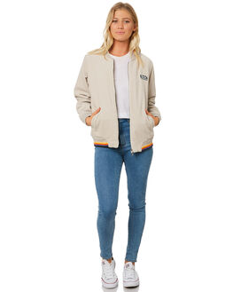 BEIGE WOMENS CLOTHING RIP CURL JACKETS - GJKDG10001
