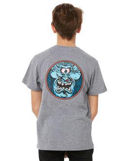 GREY HEATHER KIDS BOYS SANTA CRUZ TEES - SC-YTC8098GRYH