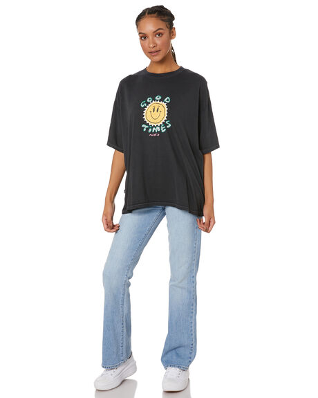 VINTAGE BLACK WOMENS CLOTHING MISFIT TEES - MT116003VNBLK