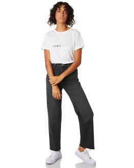 WHITE WOMENS CLOTHING COOLS CLUB TEES - 100-CW2WHT