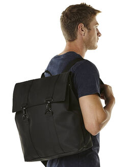 BLACK MENS ACCESSORIES RAINS BAGS + BACKPACKS - 12130104BLK