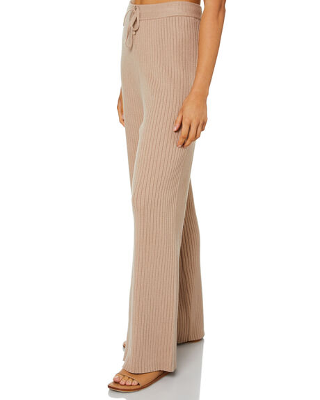 MOCHA WOMENS CLOTHING NUDE LUCY PANTS - NU24224MOCHA