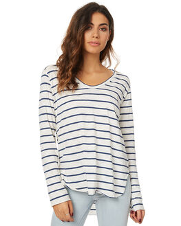 MONTY WOVEN STRIPE WOMENS CLOTHING THE BARE ROAD TEES - 791251-01STR