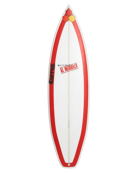 channel islands red beauty curren surfboard clear surfstitch