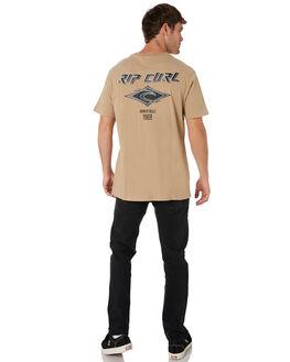 KHAKI MENS CLOTHING RIP CURL TEES - CTENS20064