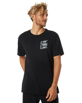 BLACK MENS CLOTHING OAKLAND SURF CLUB TEES - AW18T3001