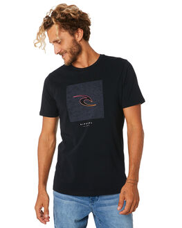 BLACK MENS CLOTHING RIP CURL TEES - CTESD20090