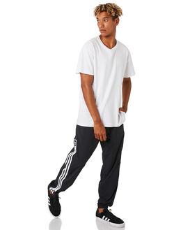 BLACK WHITE MENS CLOTHING ADIDAS PANTS - EC3313BKWH