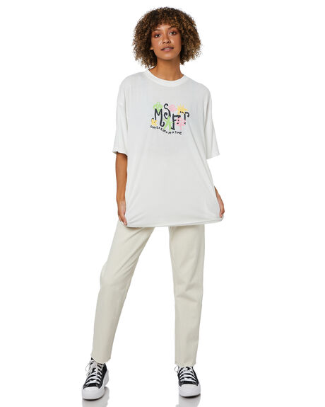 WASHED WHITE WOMENS CLOTHING MISFIT TEES - MT115000WWHT