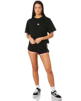 BLACK WOMENS CLOTHING STUSSY TEES - ST183008BLK
