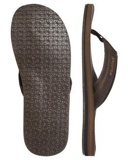 CHOCOLATE MENS FOOTWEAR KUSTOM THONGS - 4984201CHOC