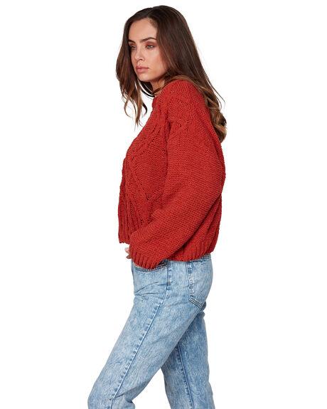 RUST WOMENS CLOTHING BILLABONG KNITS + CARDIGANS - BB-6507795-R02