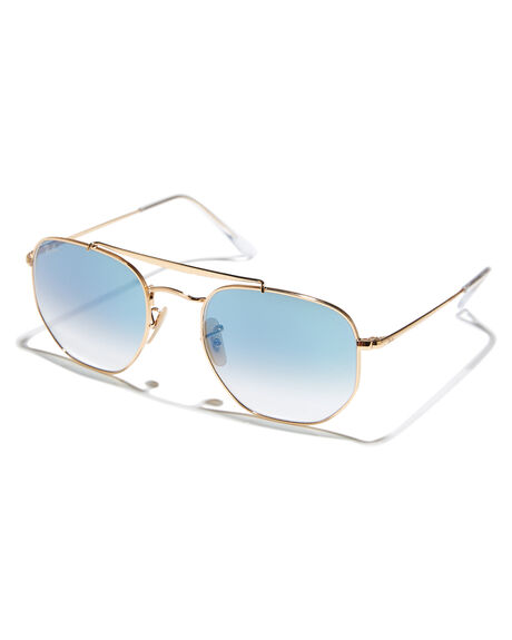 GOLD BLUE WOMENS ACCESSORIES RAY-BAN SUNGLASSES - 0RB3648GLDBL