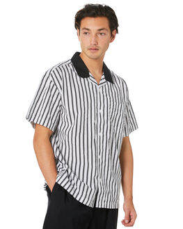 BLACK MULTI MENS CLOTHING OBEY SHIRTS - 181210290BKM