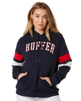 NAVY RED WOMENS CLOTHING HUFFER JUMPERS - WHD92S539NARED
