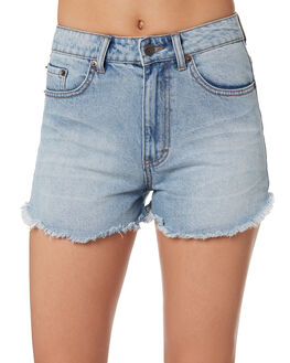 BLUE WOMENS CLOTHING RUSTY SHORTS - WKL0627DUB