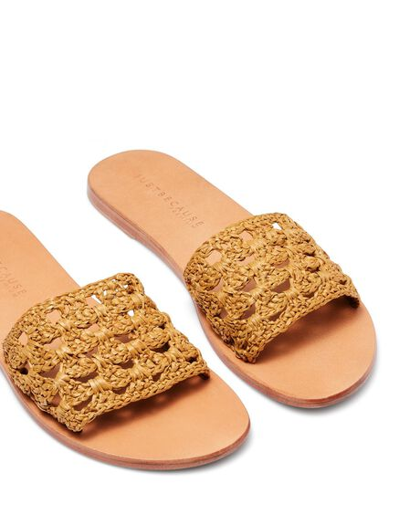 MUSTARD WOMENS FOOTWEAR JUST BECAUSE SLIDES - SOLE-JB0260MST