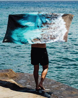 BLUE MENS ACCESSORIES SLOWTIDE TOWELS - ST185BLU
