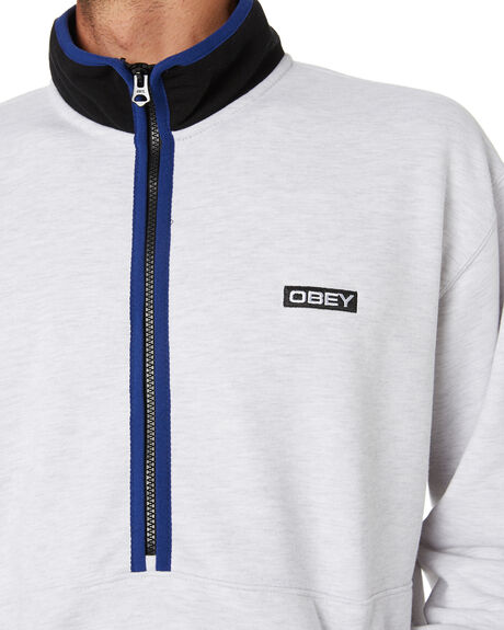 ASH GREY MULTI MENS CLOTHING OBEY JUMPERS - 111620060AGRY