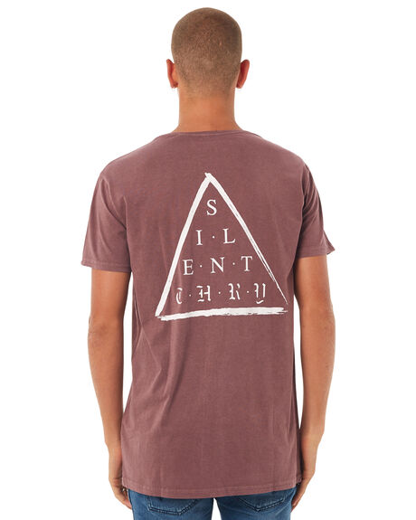 BURGUNDY MENS CLOTHING SILENT THEORY TEES - 4001014BURG