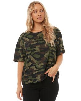 DARK CAMO WOMENS CLOTHING VOLCOM TEES - B0111813DCA