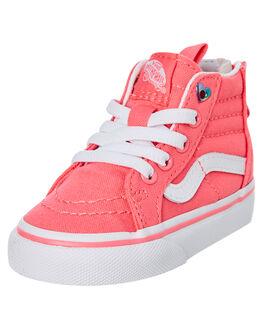 STRAWBERRY PINK KIDS GIRLS VANS FOOTWEAR - VNA32R3VIISPINK