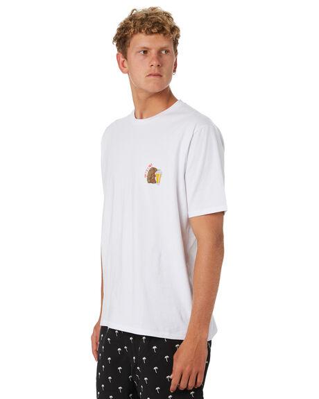 WHITE MENS CLOTHING BARNEY COOLS TEES - 130-CC4WHT