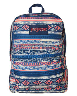 NAVY COLOUR GEO WOMENS ACCESSORIES JANSPORT BAGS + BACKPACKS - JST50F-JS0WV