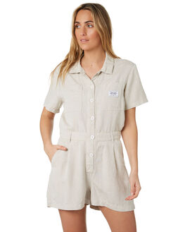 NATURAL WOMENS CLOTHING STUSSY PLAYSUITS + OVERALLS - ST193609NAT