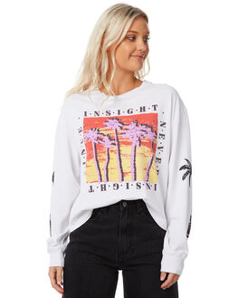 WHITE WOMENS CLOTHING INSIGHT TEES - 5000002377WHT