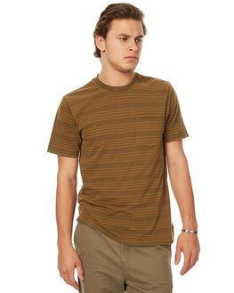 OLIVE MENS CLOTHING BRIXTON TEES - 02241OLIVE