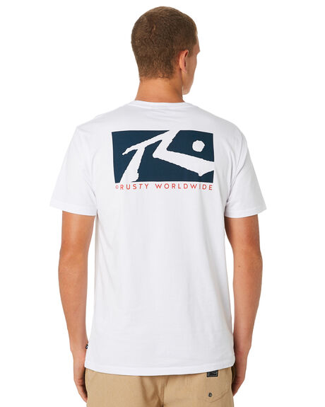 WHITE MENS CLOTHING RUSTY TEES - TTM2079WH1