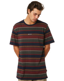 FORREST MAROON NAVY MENS CLOTHING RPM TEES - 9WMT01BFMN