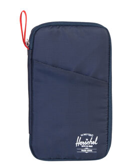 NAVY RED MENS ACCESSORIES HERSCHEL SUPPLY CO WALLETS - 10534-00018-OSNVRD