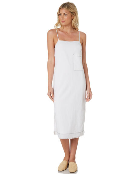 WHITE WOMENS CLOTHING NUDE LUCY DRESSES - NU23507WHT